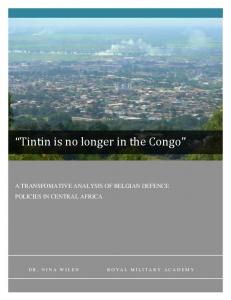 """Tintin is no longer in the Congo"""
