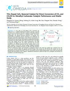 TiO2-Doped CeO2 Nanorod Catalyst for Direct