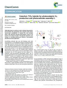 TiO2 hybrids for photocatalytic H2 production and