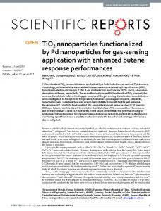 TiO2 nanoparticles functionalized by Pd nanoparticles ... - CyberLeninka