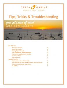 Tips, Tricks & Troubleshooting