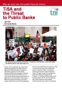 TiSA and the Threat to Public Banks - Transnational Institute