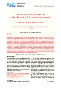 Tissue arrays as fiducial markers for section ... - Wiley Online Library