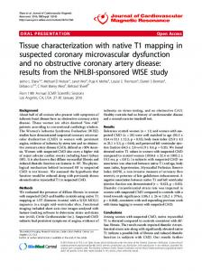 Tissue characterization with native T1 mapping in ... - Springer Link