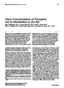Tissue Concentrations of Clozapine and its Metabolites in the ... - Nature