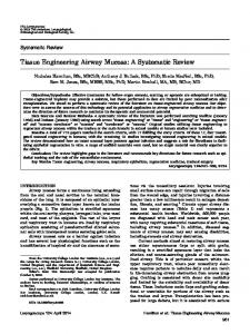 Tissue engineering airway mucosa: A ... - Wiley Online Library