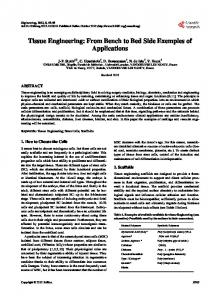 Tissue Engineering - Scientific Research Publishing