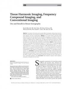 Tissue Harmonic Imaging, Frequency ... - Wiley Online Library