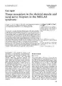 Tissue mosaicism in the skeletal muscle and ... - Wiley Online Library
