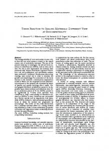 TIssuE REacTIon To sEalIng MaTERIals: DIffEREnT ... - Springer Link