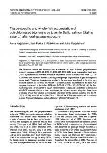 Tissue-specific and whole-fish accumulation of polychlorinated ...