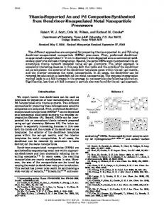 Titania-Supported Au and Pd Composites Synthesized from ...