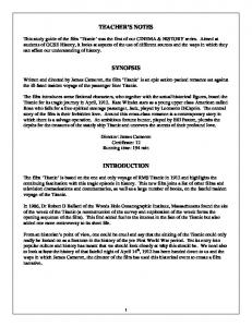 Titanic study guide - Film Education