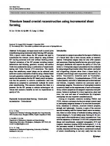 Titanium based cranial reconstruction using