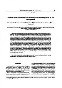 Titanium dioxide nanoparticles: some aspects of ...