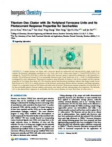 Titanium Oxo Cluster with Six Peripheral ... - ACS Publications