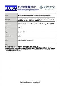 Title Polybrominated diphenyl ethers in human serum ...