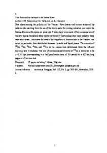 Title: Radionuclide transport in the Yenisei River - arXiv