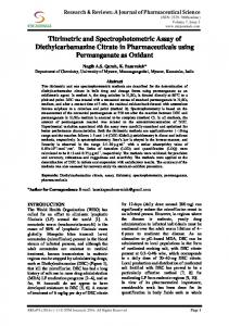 Titrimetric and Spectrophotometric Assay of ...