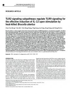 TLR2 signaling subpathways regulate TLR9 signaling for the ... - Nature