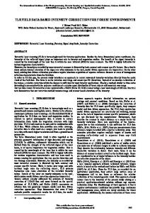 tls field data based intensity correction for forest ... - ISPRS Archives