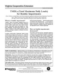 TMDLs (Total Maximum Daily Loads) for Benthic ... - VCE Publications