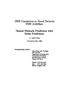 TNN A101Rev. Neural Network Prediction with