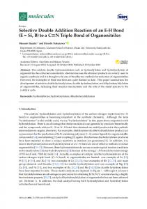 to a CN Triple Bond of Organonitriles