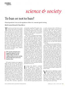 To ban or not to ban? - Wiley Online Library