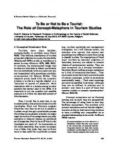 To Be or Not to Be a Tourist: The Role of Concept-Metaphors in ... - Core