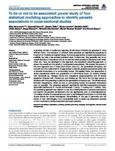 To be or not to be associated: power study of four statistical ... - EDENext
