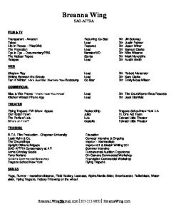 to download resume - Breanna Wing