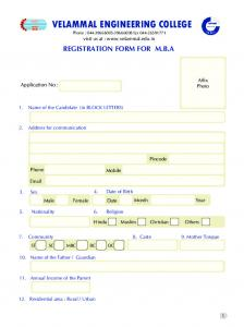to download the Application - Velammal