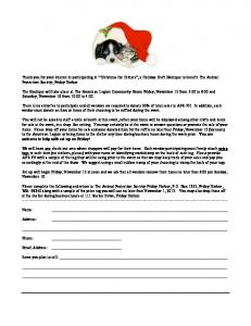 to download the Christmas for Critters Application