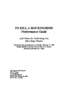 TO KILL A MOCKINGBIRD Performance Guide - Lied Center for ...