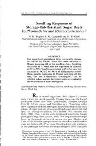 To Phoma Betae and Rhizoctonia Solanf - Beet Sugar Development ...