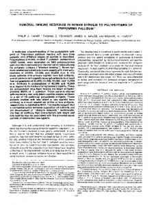 to polypeptides of Treponema pallidum. Humoral immune response in ...