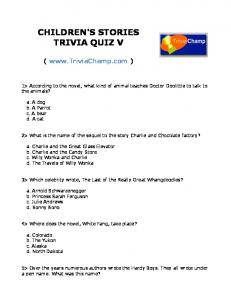 To Print This Quiz - Trivia Champ