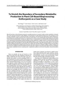 To stretch the boundary of secondary metabolite