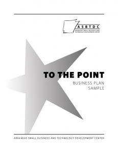 To The Point Business Plan Sample