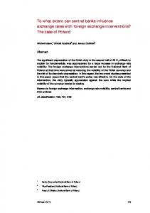 To what extent can central banks influence exchange rates with ...