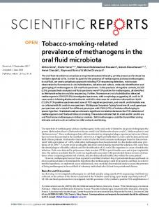 Tobacco-smoking-related prevalence of