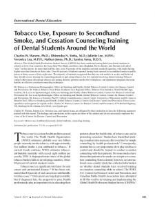 Tobacco Use, Exposure to Secondhand Smoke ... - Semantic Scholar