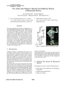 Toe Joints that Enhance Bipedal and Fullbody Motion of Humanoid ...