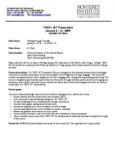 toefl-ibt-prep-registation-form-2009 - Middlebury