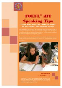TOEFL iBT Reading Tips - i-Courses.org