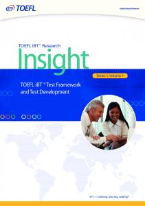 TOEFL iBT Test Framework and Test Development - ETS
