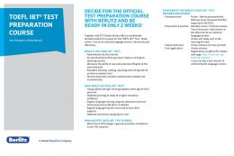 toefl iBt® test PreParation course