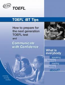 TOEFL® iBT Tips