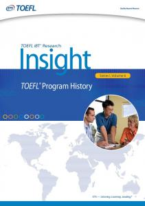 TOEFL® Program History - ETS